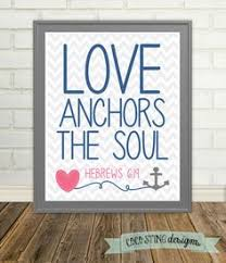 Items Similar To Love Anchors - personalized anniversary gift love anchors the soul nautical