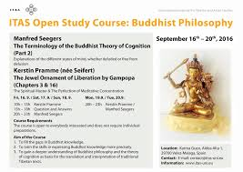 buddhist philosophy study course itas karma guen
