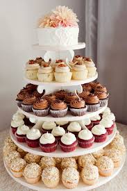 cupcake wedding cake best 25 wedding cakes with cupcakes ideas on