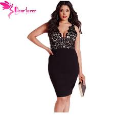 dear lover spaghetti strap club dresses for large size women plus