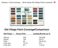 vintage paint colours old village paint