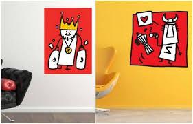 wandtattoos jugendzimmer bild coole wandtattoos jugendzimmer karikaturen roter hintergrund