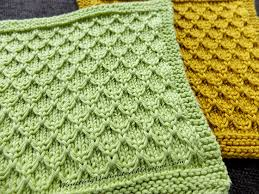 mock honeycomb knit dishcloth free pattern knitted