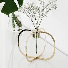 single stem vases single stem gold or copper test tube vase by the best room