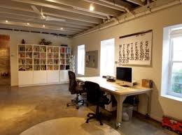 Basement Office Design Ideas Workable Home Office Design Brilliant Unfinished Basement Office