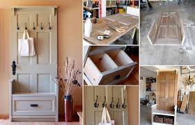 This Old House Entry Bench Diy Entry Bench From Old Door Diy Cozy Home
