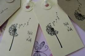 Birthday Wish Tree 10 Dandelion Make A Wish Wedding Birthday Labels Balloon Tags