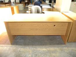 Used L Shaped Desk L Shaped Laminate Desk By Maverick Oak Finish