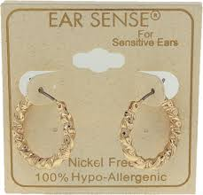 12 asst nickel free small medium gold hoop earrings ear sense
