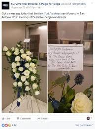 Send Flowers San Antonio - new york yankees send beautiful flowers to family of fallen san