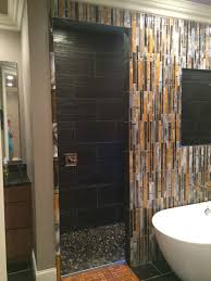 fused glass we created this wall of bamboo for our client s master bath in west virginia using a combination of flat and round bamboo hand crafted tiles