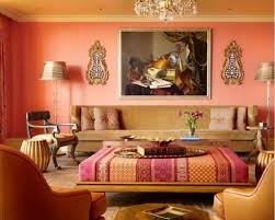 Brown Red And Orange Home Decor Living Room Dazzling Living Rooms Decorating Ideas Using Orange