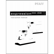 instruction manual pfaff expression 2034 sewing parts online