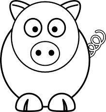 Cute Pig Coloring Page For Kids Free Printable Picture Pig Coloring Pages