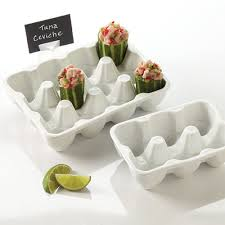 ceramic egg trays american metalcraft pehct6 6 slot porcelain egg