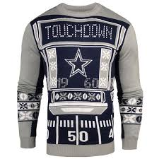 cowboys sweater s dallas cowboys klew navy light up sweater nflshop com