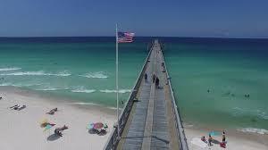 Beach Flag Pole Aerial Shot American Flag Pole Stock Video Footage Videoblocks