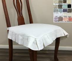 Pleated Table Covers Linen Chair Seat Cover With Pleated Ruffles U2013 Multiple Colors