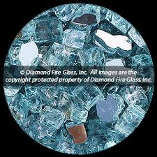 Fire Pit Glass by Caribbean Teal Reflective Nugget Diamond Fire Pit Glass 25 Lb Nugget