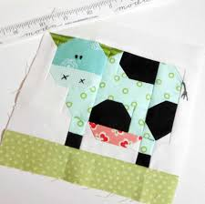 K Henblock Block 223 Hello Darling Cow My Patchwork Cow 6