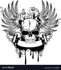 skull with wings 1 royalty free vector image vectorstock