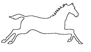 printable horse stencils free download clip art free clip art