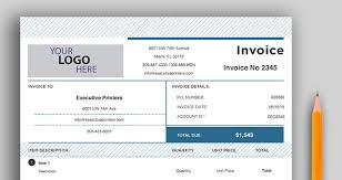 free invoice template executive printers of florida
