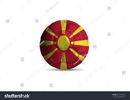 Flag Of Macedonia Football Ball National Flag Macedonia Ball Stock Illustration