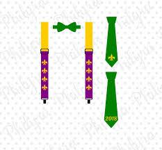mardi gras tie suspenders and bowtie mardi gras tie mardi gras svg boy