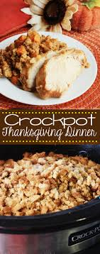 crockpot thanksgiving dinner recipe mostly
