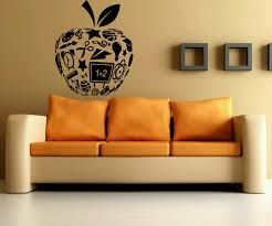 amazon com wall decor vinyl sticker room decal art apple