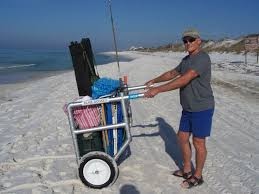 Rolling Beach Chair Cart Beach Cart Easily Transport Your Chairs Umbrella Toys Cooler