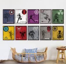 movie home decor modern original a4 print super hero ironman captainer america hulk