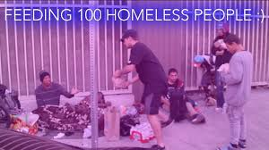 feed the homeless on thanksgiving feeding 100 homeless people for thanksgiving youtube