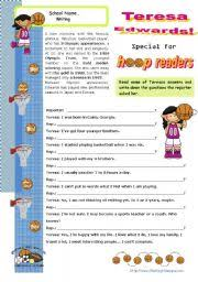 english teaching worksheets basketball