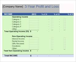 Profit And Loss Template Excel Free Profit And Loss Template 18 Free Documents In Pdf Word