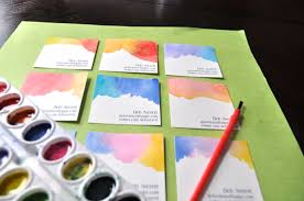 water color cards watercolor business cards