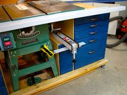 Under Table Cabinet Mobile Tablesaw Workstand