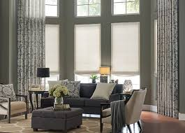 Roman Shade With Curtains Window Drapes Budget Blinds