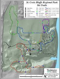 St Croix Map St Croix Bluffs Regional Park Maplets