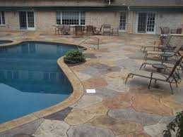 Dyed Concrete Patio by Stamped Concrete Patio Designs Multi Colored Stamped Concrete
