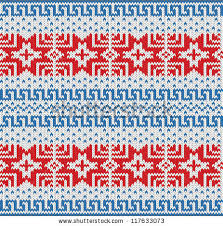 traditional scandinavian pattern knitted background vector stock