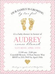 baby girl invitations glittering baby girl 4x5 stationery card baby shower invitations