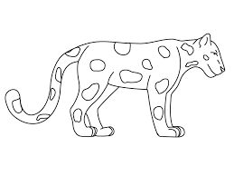 jaguar animal coloring pages realistic bebo pandco