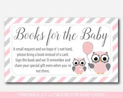 bring a book instead of a card baby shower woodland owl bring a book instead of a card inserts owl baby