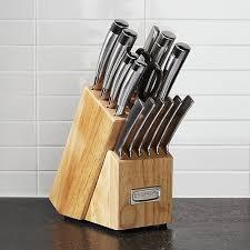cuisinart kitchen knives cuisinart 15 pro knife block set crate and barrel