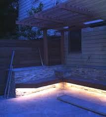 Backyard Led Lighting Backyard Nearing Completion San Francisco Victorian Restoration