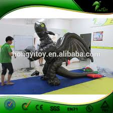 Toothless Costume Double Layer Newest Inflatable Toothless Costume Inflatable