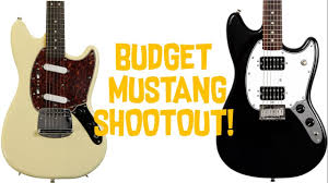 squire mustang squier mustang shootout bullet vs vintage modified