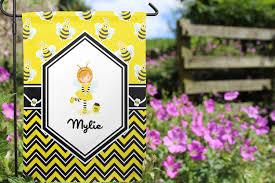 Monogram Garden Flag Buzzing Bee Garden Flag Personalized Youcustomizeit